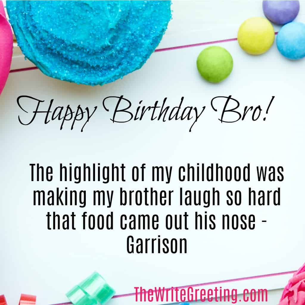 200 Of The Best Birthday Wishes For Your Brother The Write Greeting
