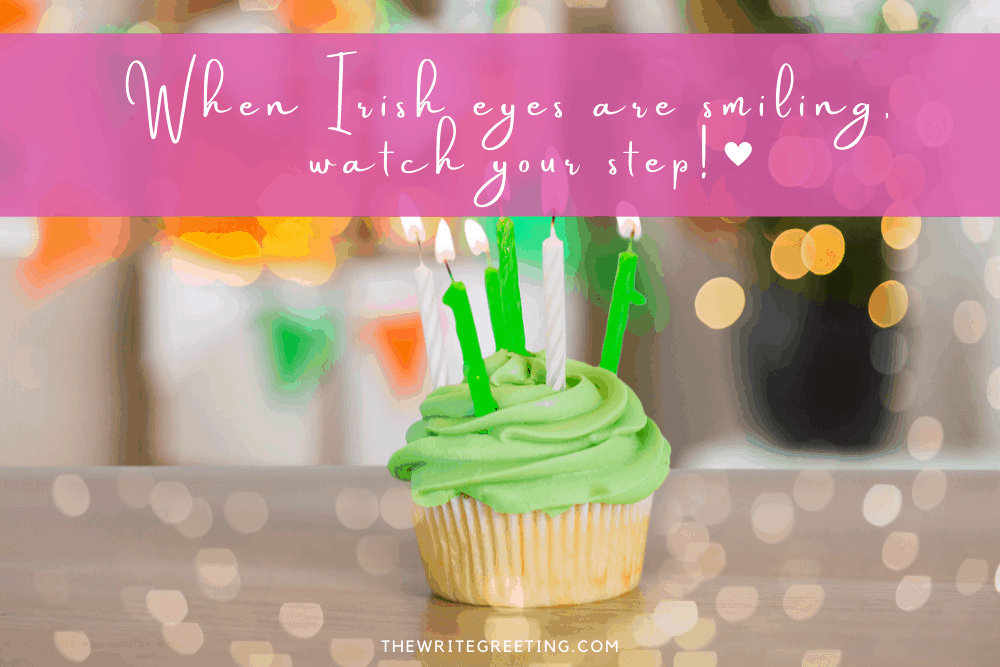 green cupcake with 3 green candles