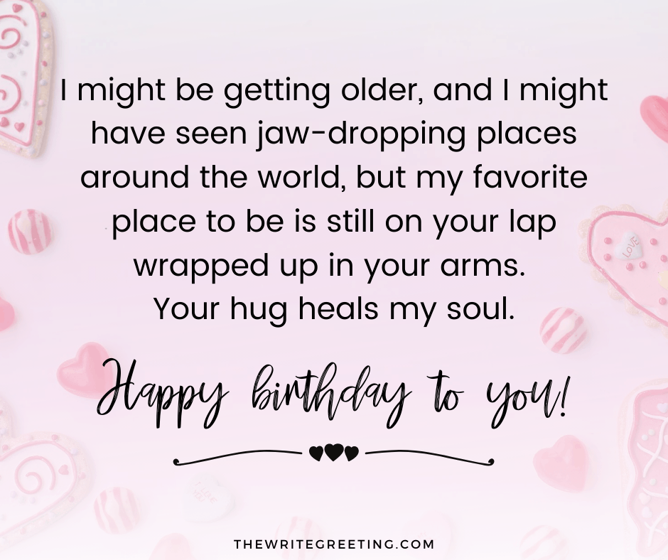 cute birthday text written on a pink background with flowers