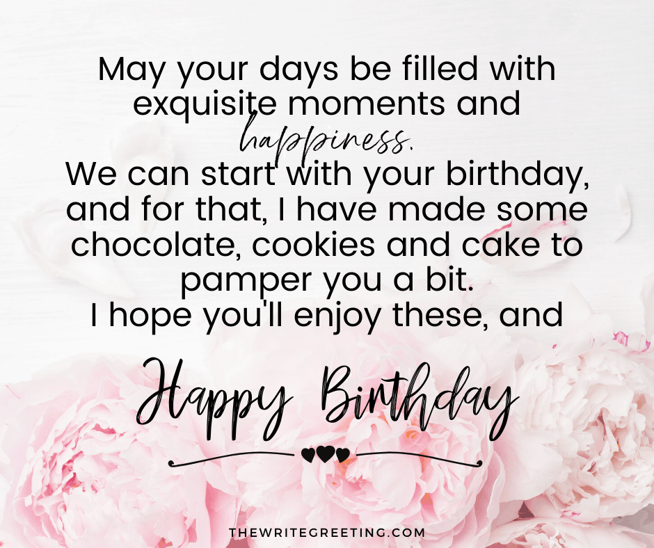 Happy birthday text written on a pink background