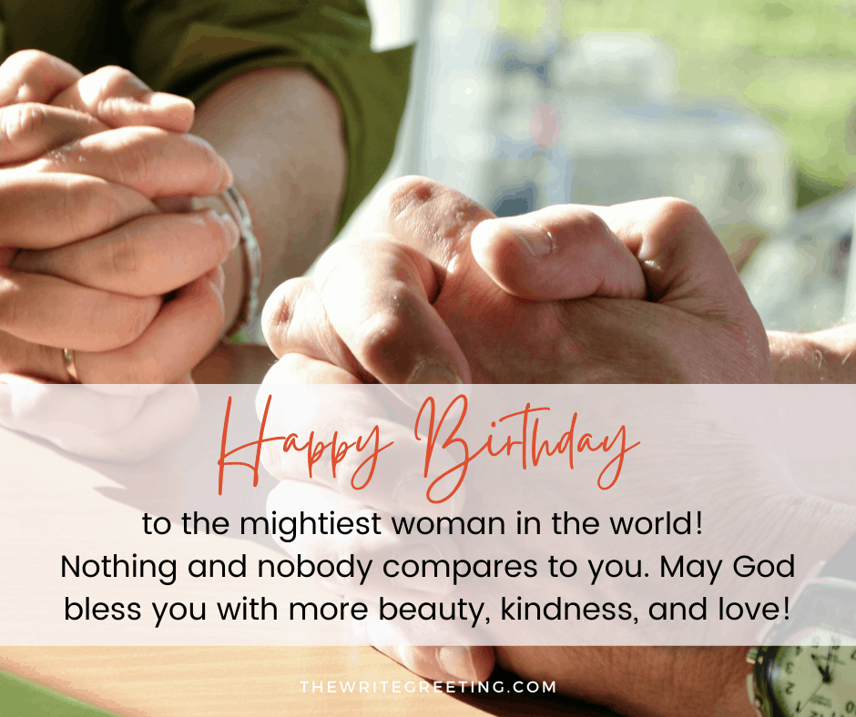 Birthday wishes for Christian mom