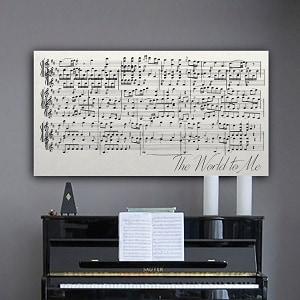 sheet music wall hanging wedding gift