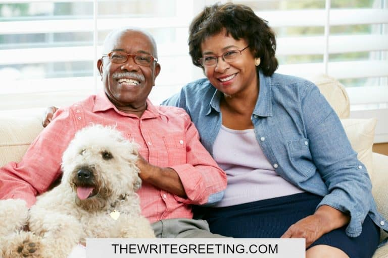 African american husband and wife on couch
