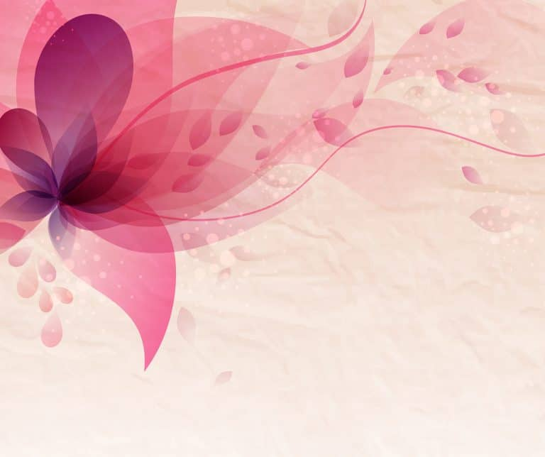 Pink flower blowing in the wind