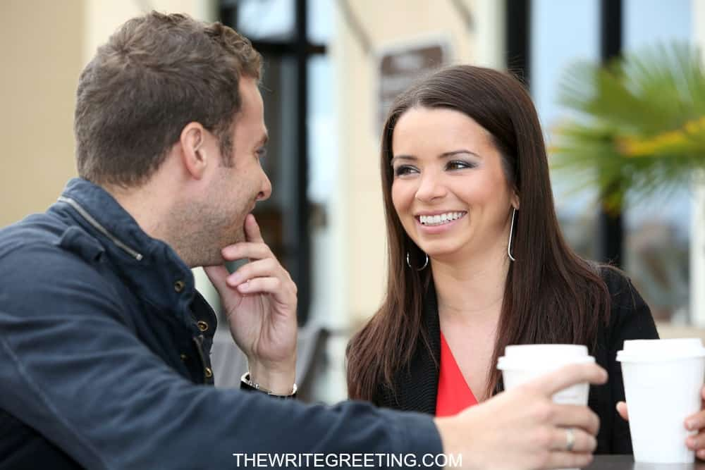 Couple meeting for coffee as a date