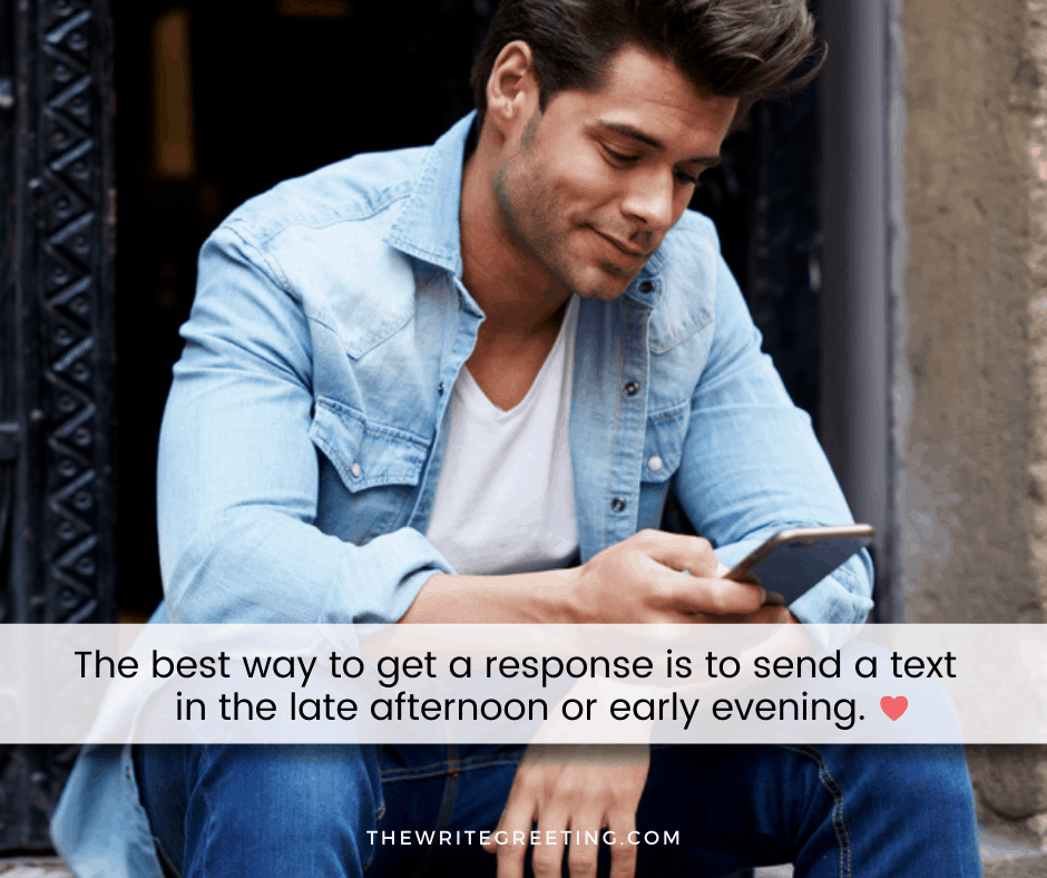 Young man texting after a first date