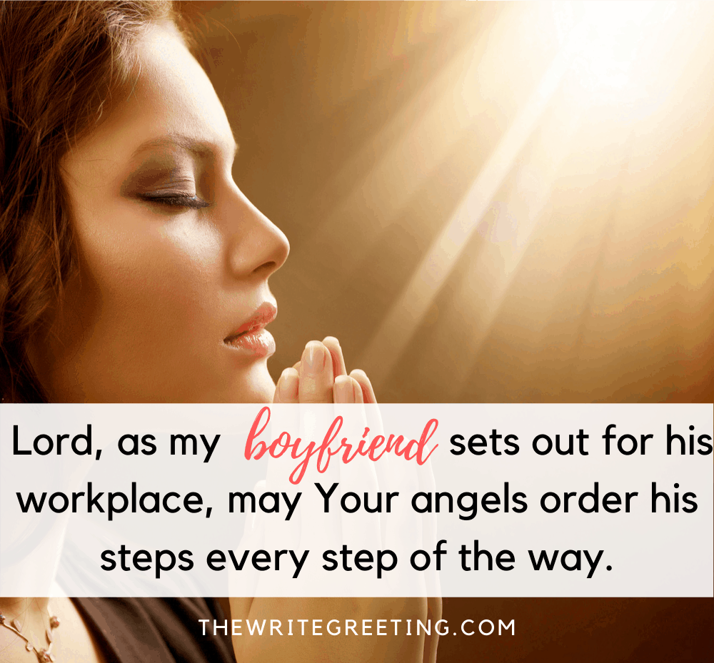 woman praying for her boyfriend