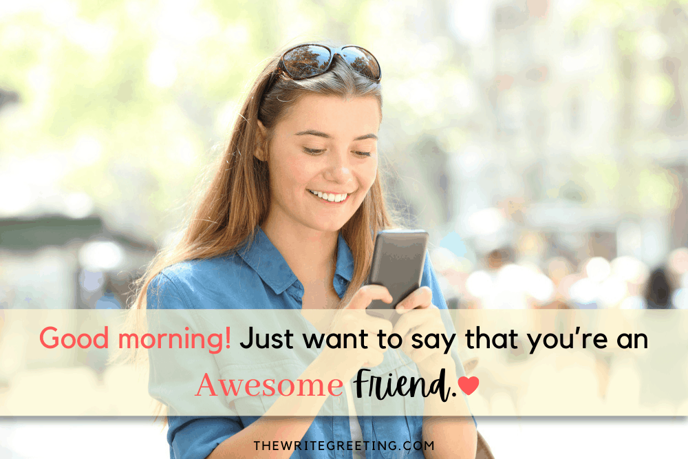 Young female sending text on phone
