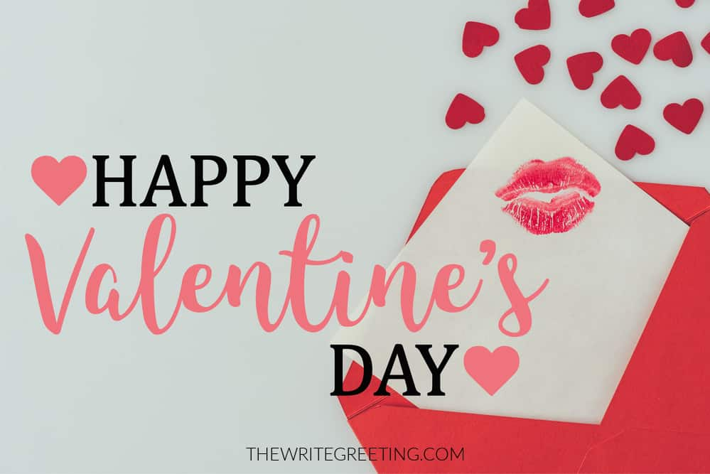 Love hearts with Happy Valentines Day written