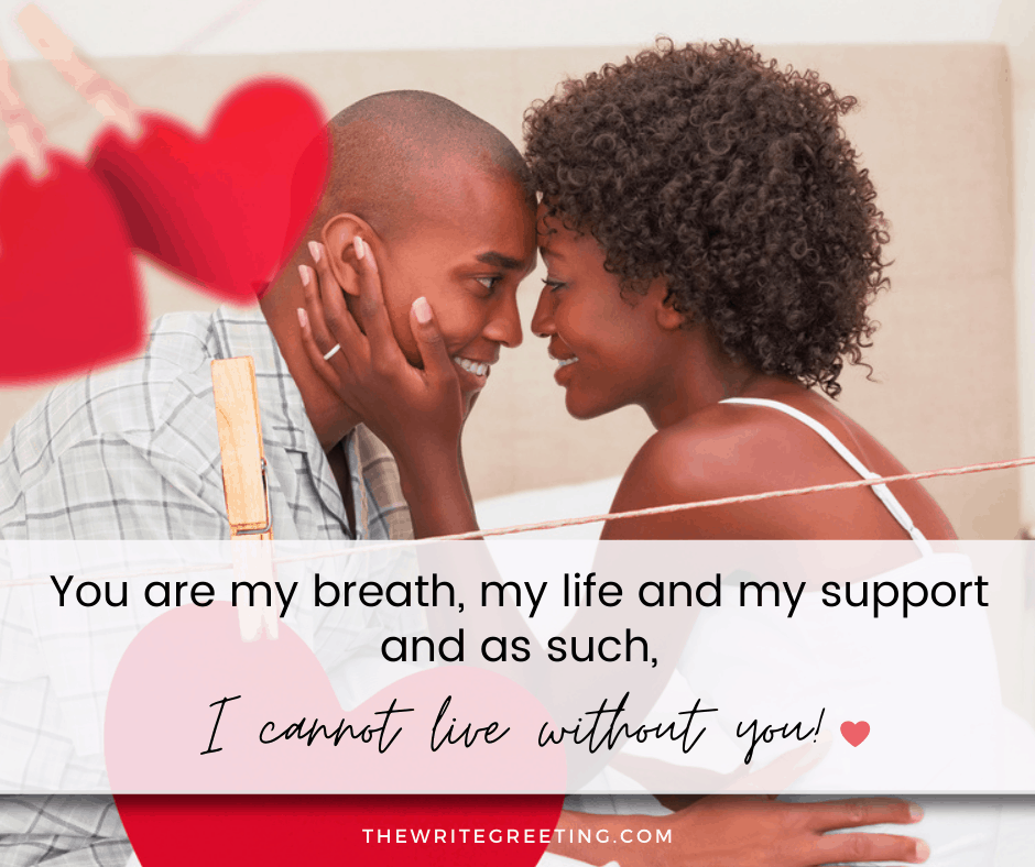 African American man and woman smiling in loving way