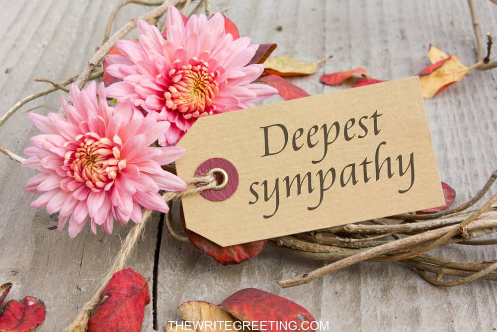 Pink flowers with deepest sympathy card