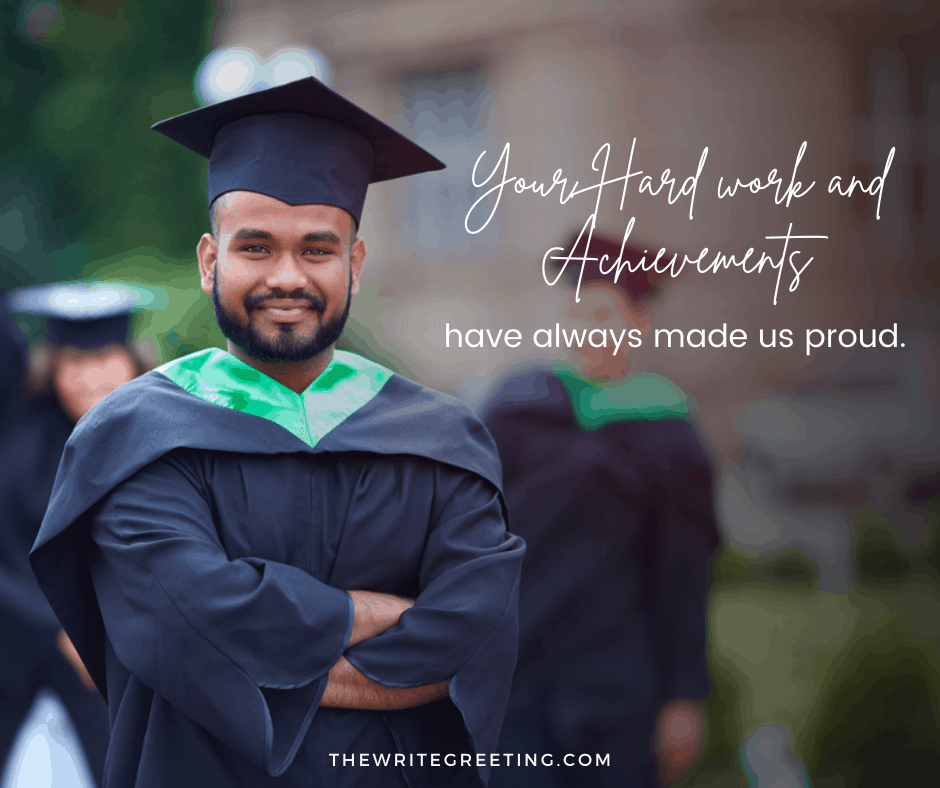 Middle Eastern young man graduating from college