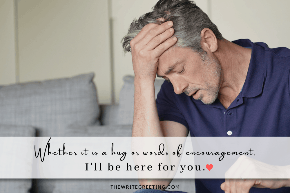 Man dealing with loss of wife