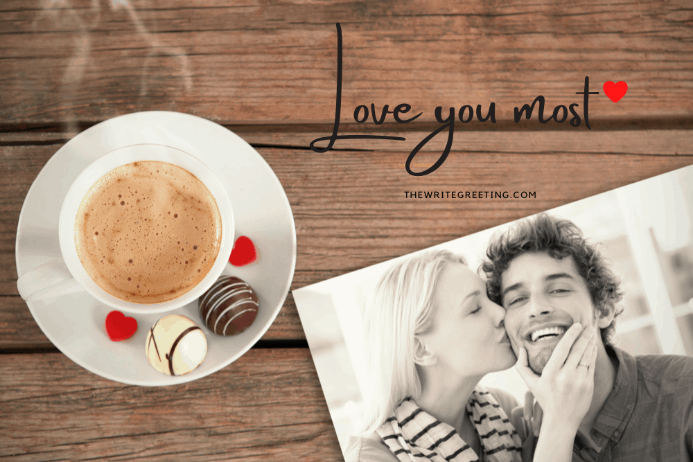 cup of coffee with photo of couple