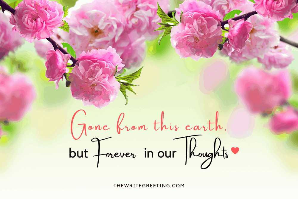 Pink sympathy flowers with death quotes