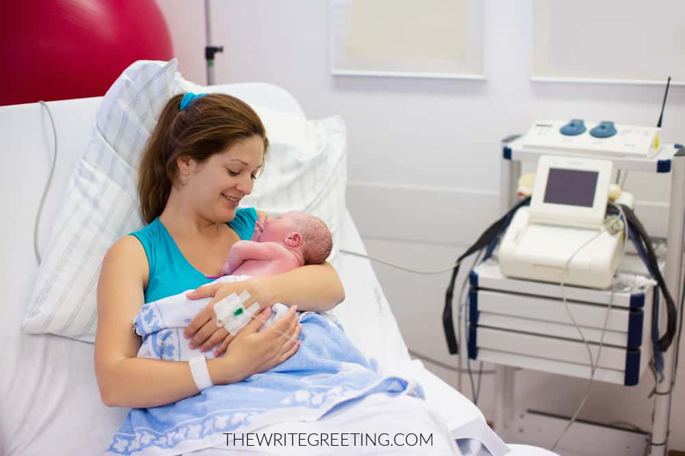 Mother & newborn baby after delivery